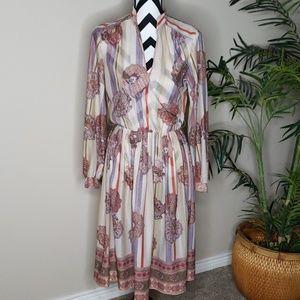 Vintage Paisley Boho dress